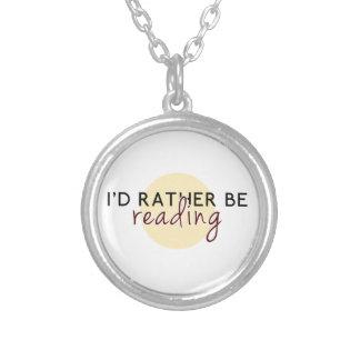 Je lirais plutôt - pour des amoureux des livres pendentif rond