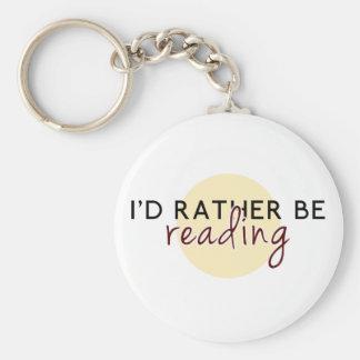 Je lirais plutôt - pour des amoureux des livres porte-clé rond