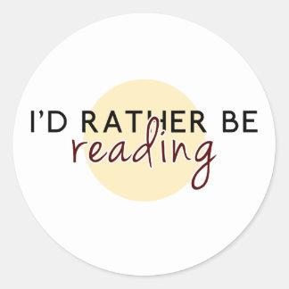 Je lirais plutôt - pour des amoureux des livres sticker rond
