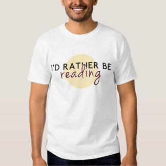 Je lirais plutôt - pour des amoureux des livres t-shirts