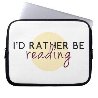 Je lirais plutôt - pour des amoureux des livres trousse pour ordinateur portable