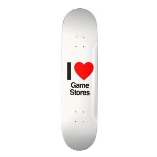 je magasins de jeu d'amour skateboards cutomisables