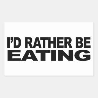 Je mangerais plutôt autocollant en rectangle
