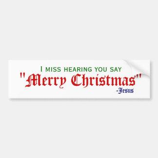Je manque le Joyeux Noël Autocollant Pour Voiture