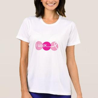 Je marche - conscience de cancer du sein t-shirt