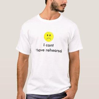 Je me biseaute ai le T-shirt de répétition