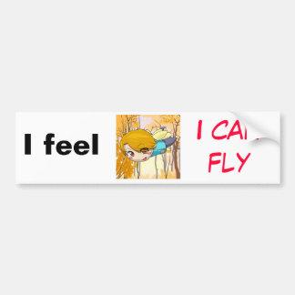 Je me sens que je peux voler autocollant de voiture