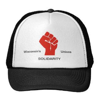 Je me tiens avec les syndicats du Wisconsin Casquette
