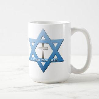 Je me tiens avec l'étoile de David croisée Mug