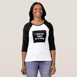 Je mets en marche la chemise de lumières pour t-shirt