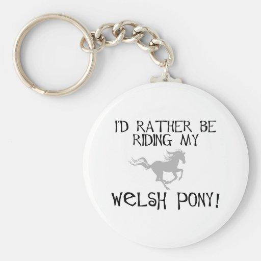 Je monterais plutôt mon poney de gallois porte-clé