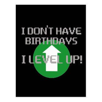 Je n'ai pas des anniversaires… cartes postales