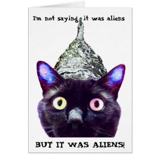 """""""Je ne dis pas que c'est des aliens…."""" Carte de"""