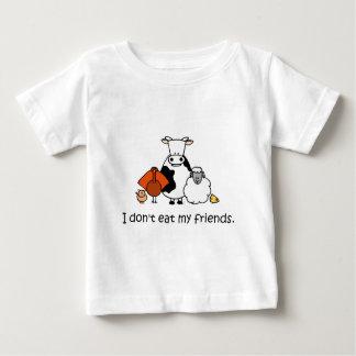 Je ne mange pas mes amis t-shirt pour bébé