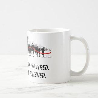Je ne m'arrête pas quand je suis tasse fatiguée de