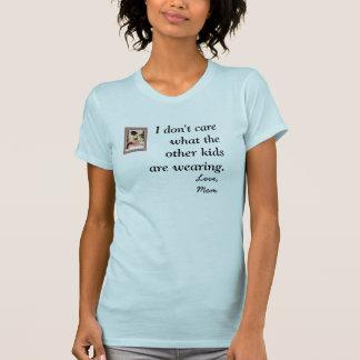 Je ne m'inquiète pas ce que les autres enfants t-shirt