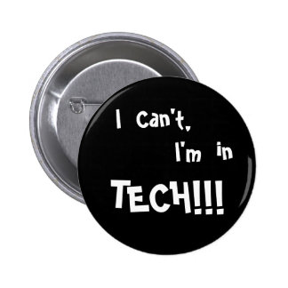 Je ne peux pas me boutonner badge rond 5 cm