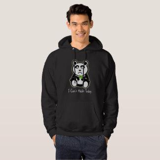 Je ne peux pas panda adulte d'aujourd'hui le dit veste à capuche