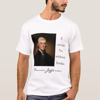 Je ne peux pas vivre sans livres t-shirt