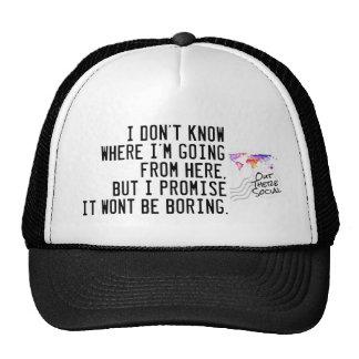 Je ne sais pas où je suis casquette allant de