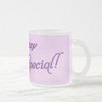 Je ne suis pas fou, je suis spécial mug en verre givré