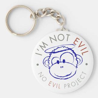 Je ne suis pas porte - clé mauvais de cercle porte-clé rond