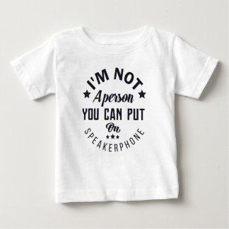 Je ne suis pas une personne que vous pouvez mettre t-shirt pour bébé