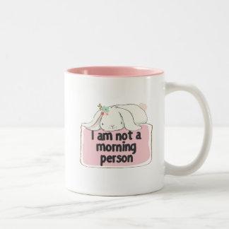 Je ne suis pas une tasse de personne de matin