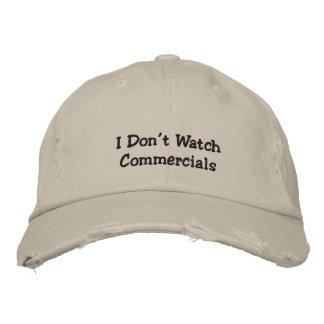 Je n'observe pas le casquette brodé du message casquette brodée