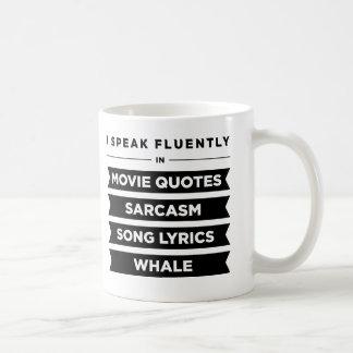 Je parle couramment dedans mug