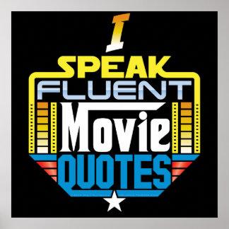 Je parle l'affiche fluidee de citations de film poster