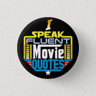 Je parle le bouton fluide de citations de film badge