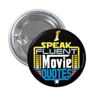 Je parle le bouton fluide de citations de film badge