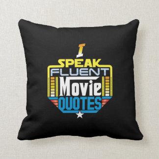 Je parle le coussin fluide de citations de film