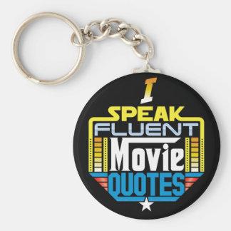 Je parle le porte - clé fluide de citations de porte-clés