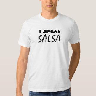 Je parle le Salsa drôle de Salsa dansant la pièce T-shirts