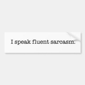 Je parle le sarcasme fluide autocollant pour voiture