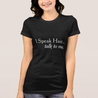 Je parle le T-shirt de vente de coiffeur de