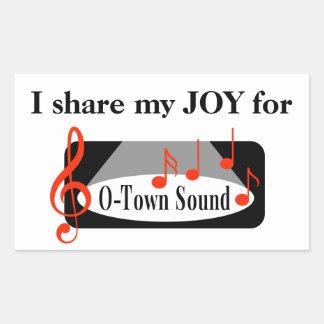 Je partage ma JOIE pour le bruit d'O-Ville ! Sticker Rectangulaire