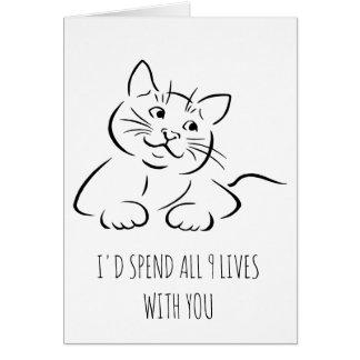Je passerais chacune des 9 vies avec vous carte