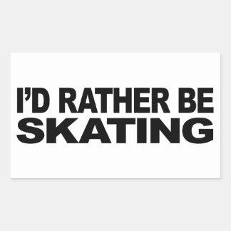 Je patinerais plutôt autocollant rectangulaire