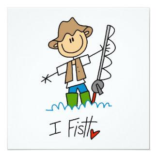 Je pêche carton d'invitation  13,33 cm