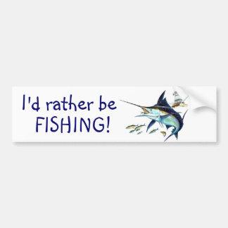Je pêcherais plutôt ! autocollant pour voiture