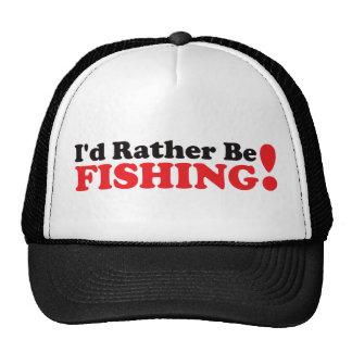 Je pêcherais plutôt - rouge casquettes