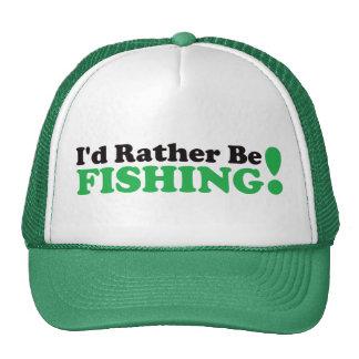 Je pêcherais plutôt - vert casquette trucker