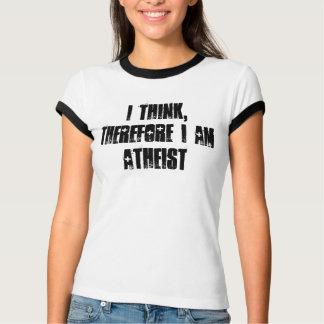 je pense, donc je suis athée, T-shirt