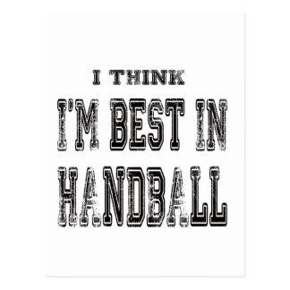 Je pense que je suis le meilleur dans le handball carte postale