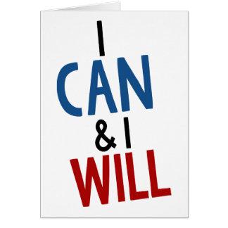 Je peux et je vais le faire carte de vœux