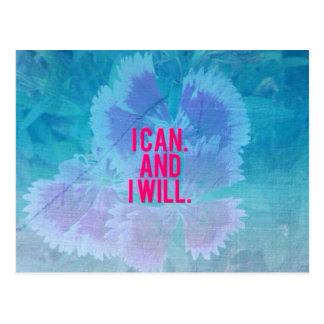 Je peux et je vais le faire ! cartes postales