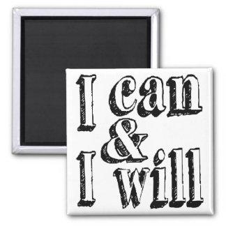 Je peux et je vais le faire magnet carré